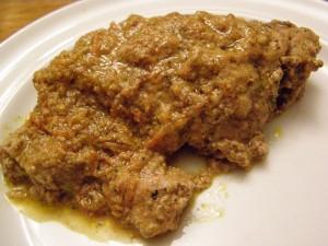 Satsivi with pork