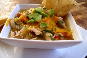 Spicy soup with chicken and lemon