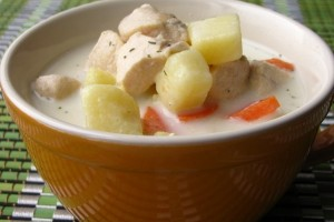 Chicken and cheese soup