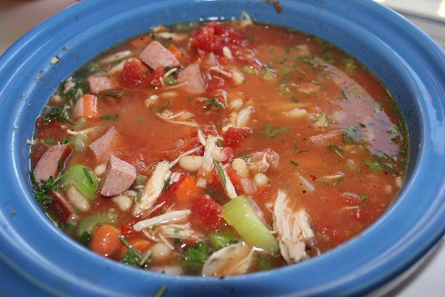 Суп с индейкой и овощами