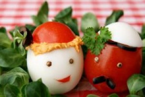 Funny dishes  made off egg