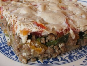 Meat with tahini paste