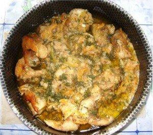 Բանջարեղենով ձուկ