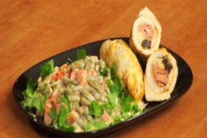 Stuffed chicken breast with sausage