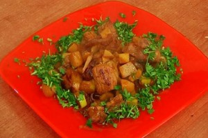 Pork with quince
