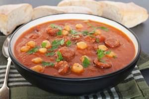 Pea soup in Moroccans way