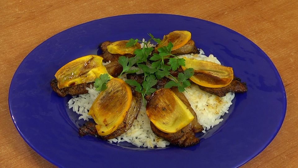 Hot dish with pork