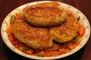 Fish cutlets with curd