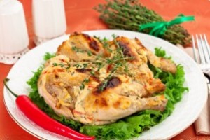 Chicken with Philadelphia cheese and thyme
