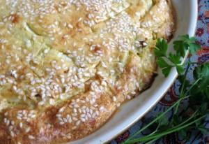 Chicken and cabbage pie