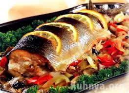 Рыба в виде конверта с овощами