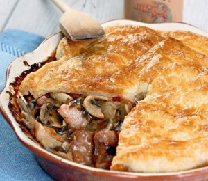 Jerepuk with meat and mushroom