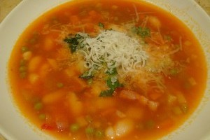 Soup with vitamins
