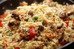 Rice with vegetable and pork