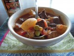 Vegetable and veal soup