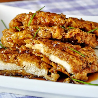 Chicken fillet with honey sauce