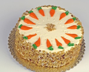 Cake with carrots