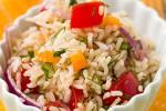 Постный салат с рисом и овощами