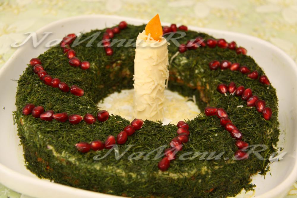 Салат рождественские свечи рецепт