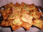 Chips lavash with cheese and ham