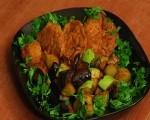 Հավի կրծքամիսը բանջարեղենով