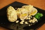Куриный рулет с персиком и арахисом