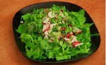 Green salad with radish