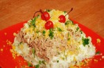 Salad with tuna and rice