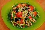 Salad with vegetables and peas